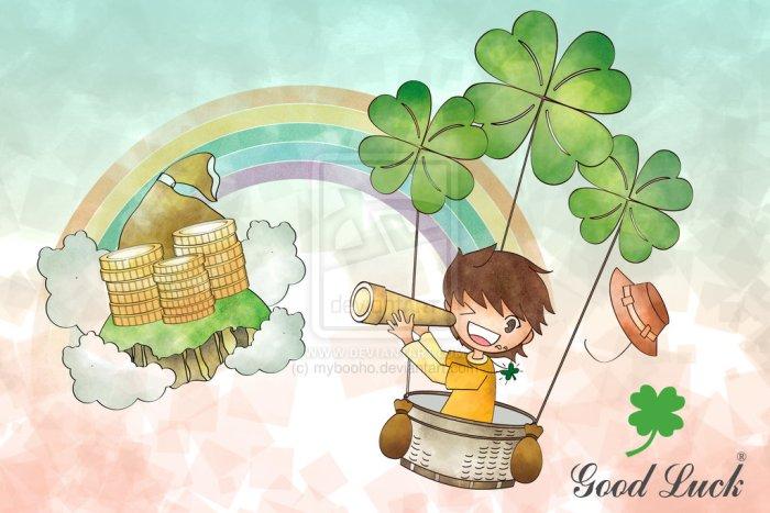 four_leaf_clover___balloon_by_mybooho-d5v0q1z